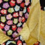 Minky Blanket Owls