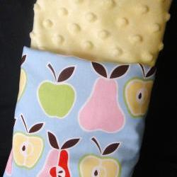 Minky Baby Blanket Apples and Pears